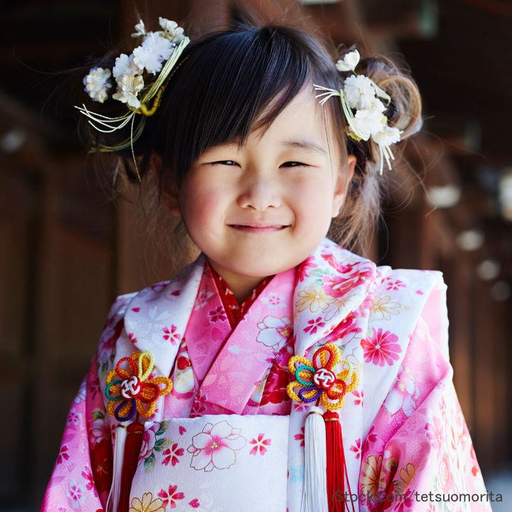 3歳の七五三の髪型。自宅で(自分で)できる日本髪やおかっぱやおだんごなどのアレンジ方法