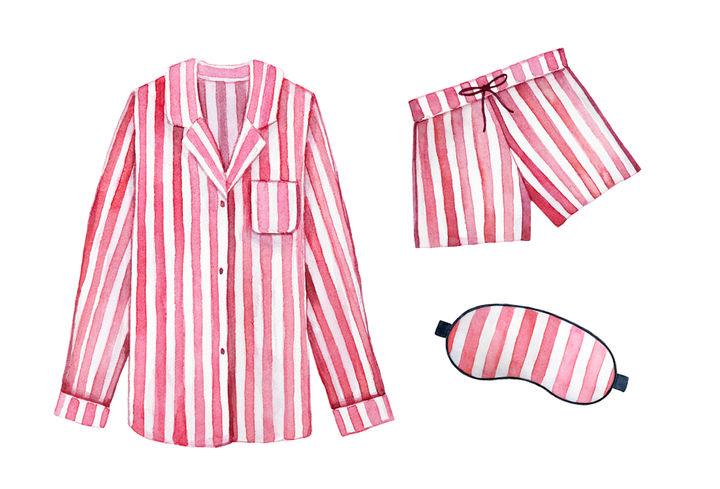 前ボタンのパジャマ