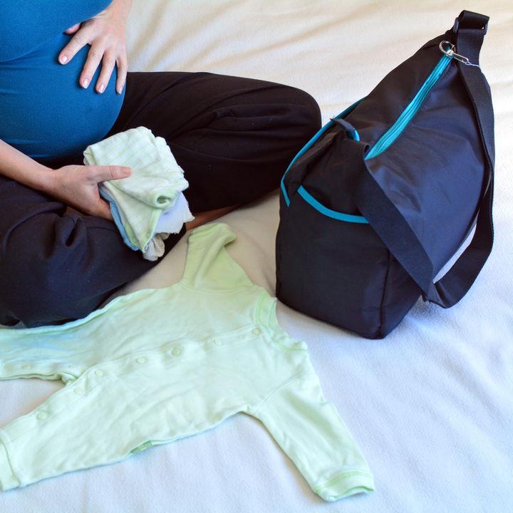 出産前に用意した入院バッグや陣痛バッグ。バッグの大きさや中身