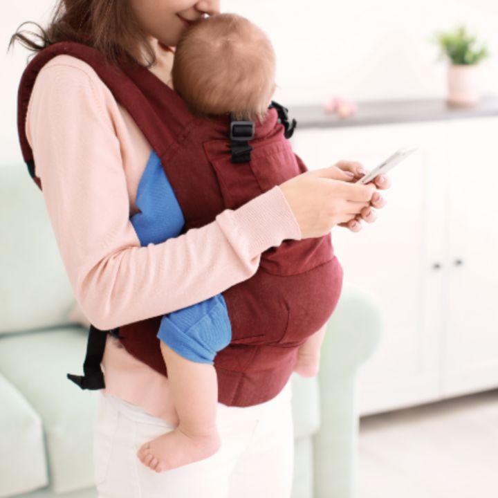新生児の抱っこ紐。横抱き、縦抱きタイプやあわせて買いたいアイテム