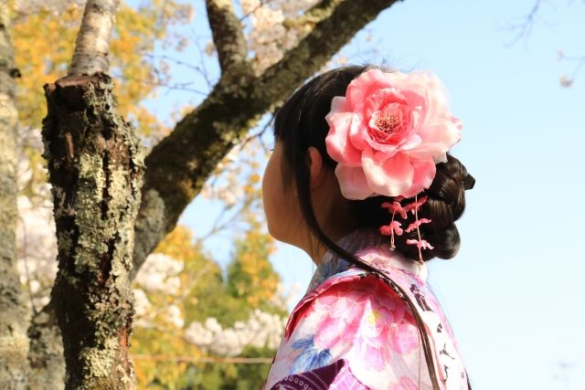 袴姿の女の子