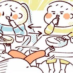 【ふたご育児】第13話 双子と離乳食