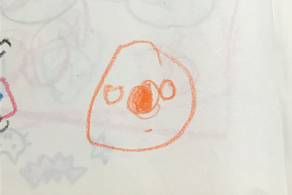 2歳児がお絵描きした絵