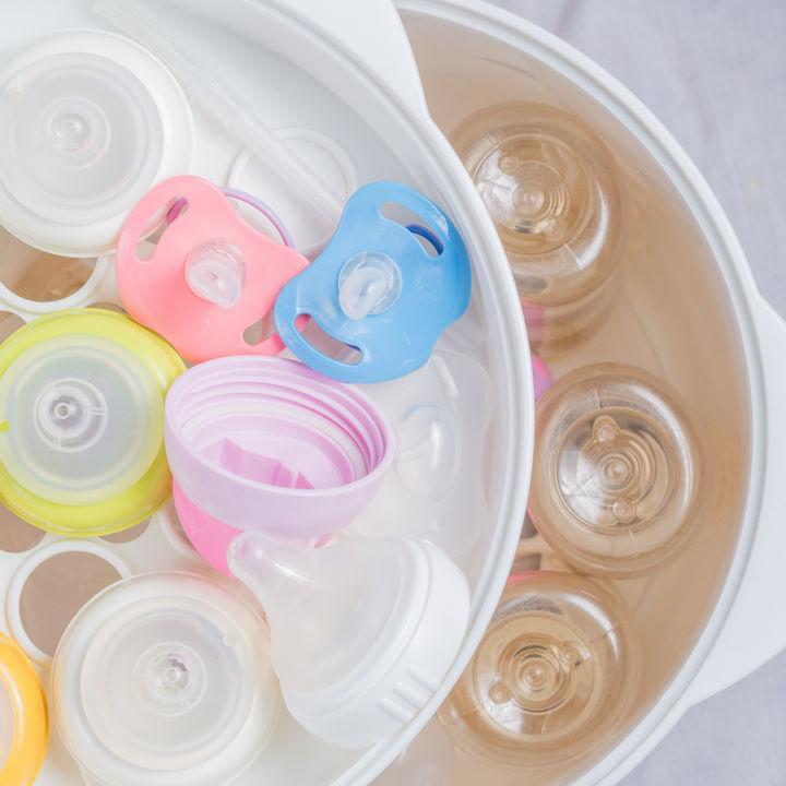 ママたちが使った哺乳瓶の保管ケース。100均の商品で代用できる方法