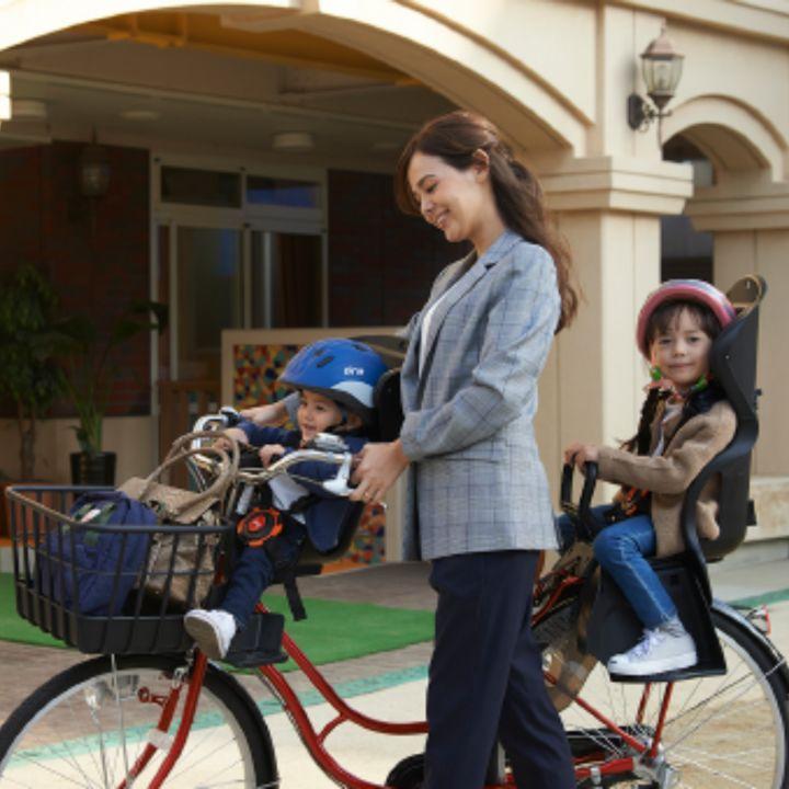 安全性から選ぶママが約8割!はじめての自転車用チャイルドシート
