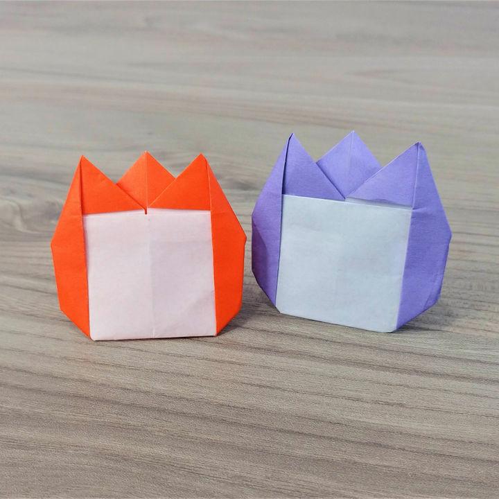 折り紙「チューリップの名札」の折り方