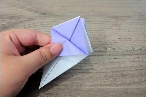 折り紙「あじさい」手順8-1