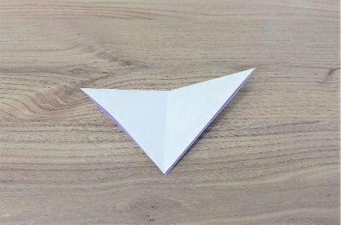 折り紙「あじさい」手順3-1