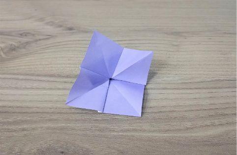 折り紙「あじさい」手順8-2