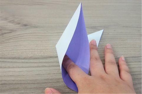 折り紙「あじさい」手順3-2