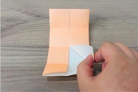 折り紙「だまし船」手順5-1
