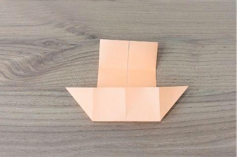 折り紙「だまし船」手順5-2