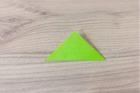 折り紙「にんじん」手順7