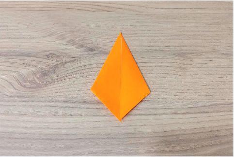 折り紙「にんじん」手順3-3