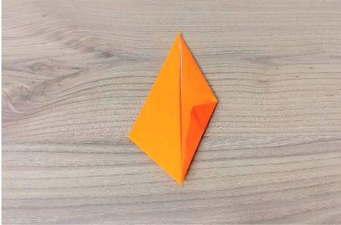 折り紙「にんじん」手順4-1