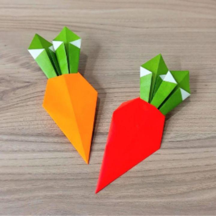 折り紙「にんじん」の簡単な折り方