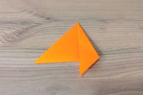 折り紙「にんじん」手順3-2