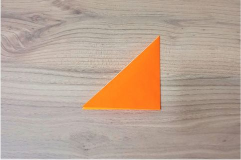 折り紙「にんじん」手順2