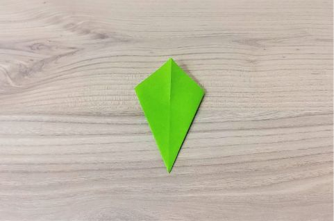 折り紙「にんじん」手順9-1