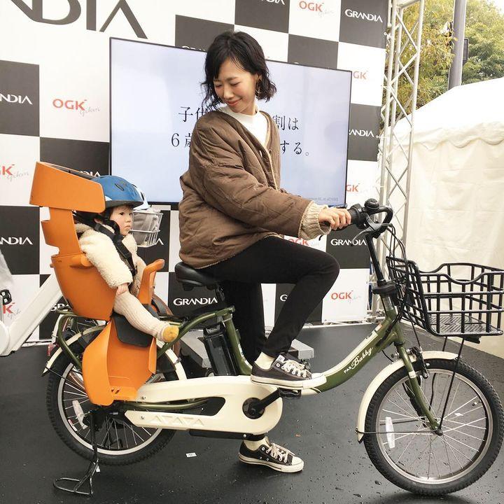 自転車チャイルドシート試乗