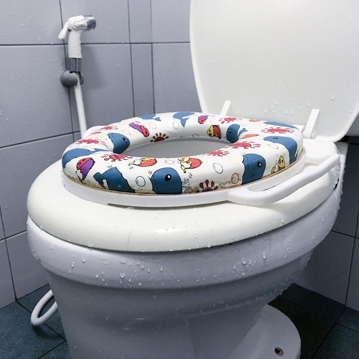 トイレトレーニングにぴったりの補助便座を選ぼう。使い方や気をつけること