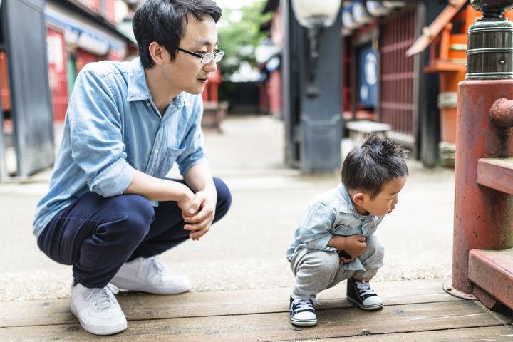 パパと男の子