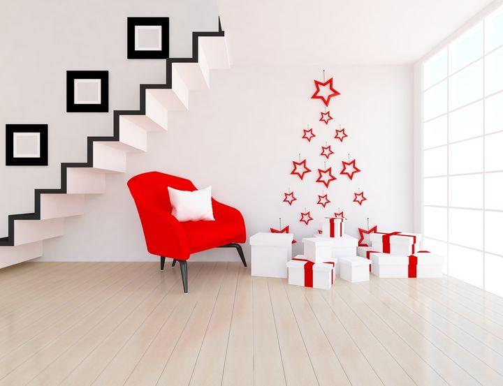 クリスマスのウォールアート